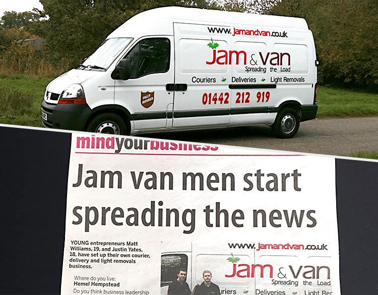 JamVans 2010 Newspaper and Van